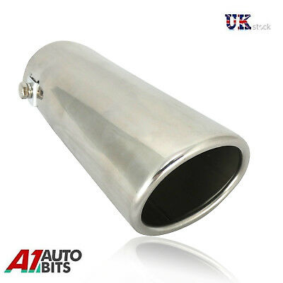 30-50mm Sport Chrome Straight Exhaust Pipe Tip Trim End Stainles Steel Muffler