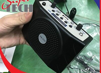 Amplifier Waistband Mini Portable FM USB SD MP3 PA Microphone Remote Control