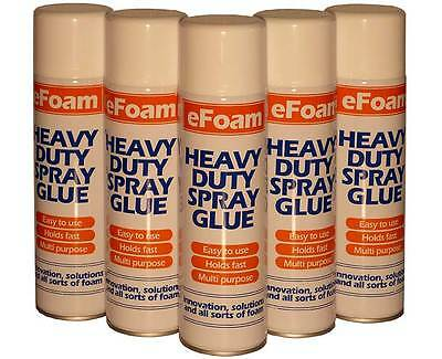 500ml HEAVY DUTY SPRAY ADHESIVE GLUE for foam,carpet,tile,craft,fabric,packaging