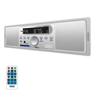 New Marine Bluetooth In-Dash Stereo Radio Headunit Receiver, MP3/USB/SD, White