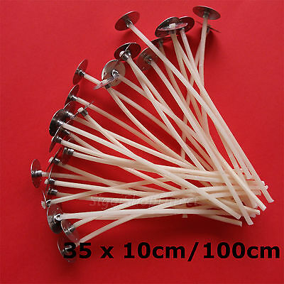 35 Pcs Pre Waxed Wicks with Tab 100 mm/ 10cm long for Candle Making High Quality