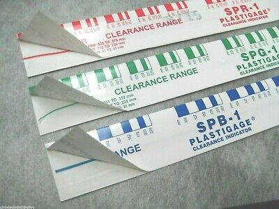 Green + Red + Blue PLASTIGAGE - Assorted Pack of 3 - Ships Fast!