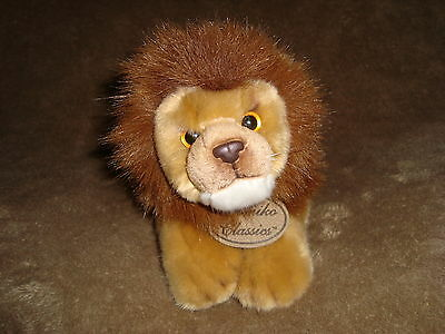 "Yomiko Classics Male Lion Plush & Beans Russ 10"" long"