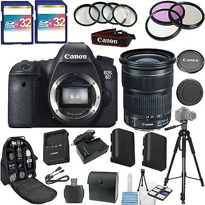Canon EOS 6D Camera Kit with 24-105mm IS STM Lens + Advanced Top Value Bundle