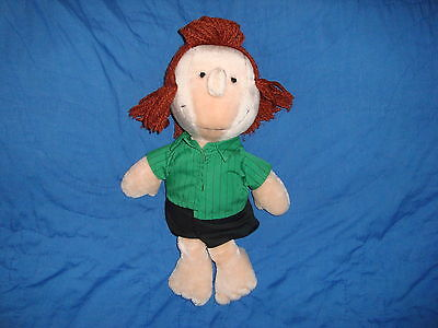 "PEANUTS Gang PEPPERMINT PATTY Determined Products Plush 14"" tall"