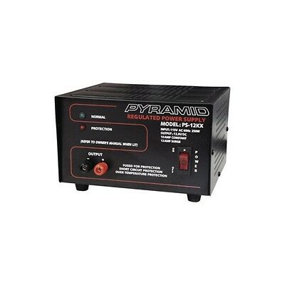 Fully Regulated Low Ripple 110 Volt AC to DC Converter 12V 12 Amp Power Supply