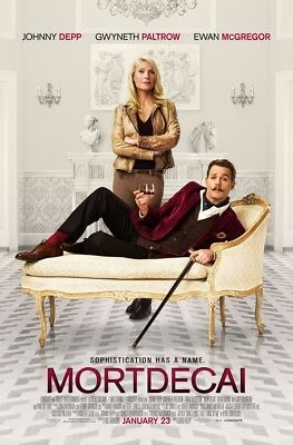 MORTDECAI MOVIE POSTER 2 Sided ORIGINAL FINAL 27x40 JOHNNY DEPP