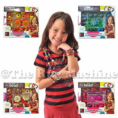 MINI BEAD KITS - Create Colourful Necklaces Bracelets  - Kids Fun Gift **NEW**