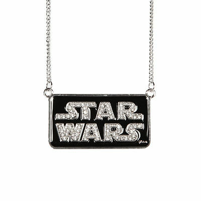 STAR WARS Logo Bling Necklace Jewelry Pendant Chain New Licensed