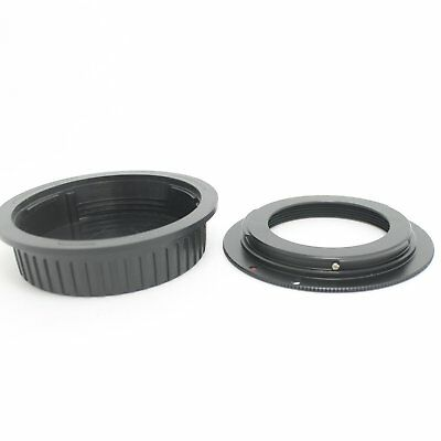 M42 Lens to Canon EOS EF Mount Adapter Ring 50D 60D 550D Rebel XSi +CAP w/plate