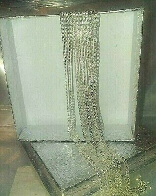 """Beautiful, Sterling Silver 2 mm Curb Chain Necklace 26"""" long  Retail  $59"""