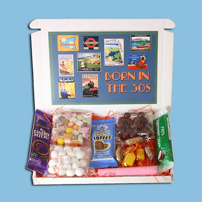 Born In The 30S Mini Sweets Gift Box- Traditional Old Fashioned Sweets