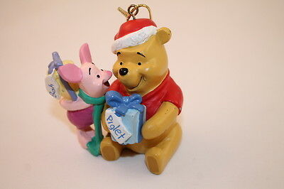 Disney Winnie the Pooh & Piglet Christmas Ornament Exchanging Presents Holiday