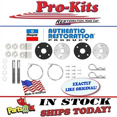"""Fits Dodge Plymouth 1969-74 OE Correct Hood Pin Kit 23"""" Cable"""
