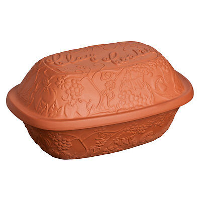 Oven Love terracotta clay cooker-dish with lid-slow cooking/tagine/roasting/dish