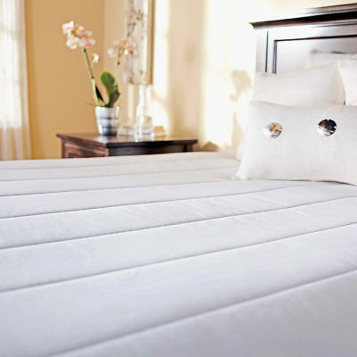 Sunbeam Quilted Heated Mattress Pad w/ 20 Heat Settings, Pre-heat and Auto-Off