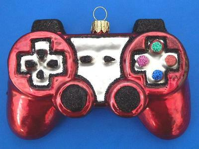 Play Station Controler European Blown Glass Christmas Tree Ornament Gameboy