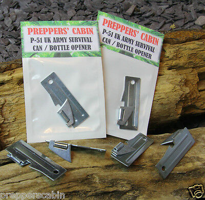 1x BRITISH ARMY P-51 SURVIVAL CAN / TIN / BOTTLE OPENER Bushcraft Camping Scouts