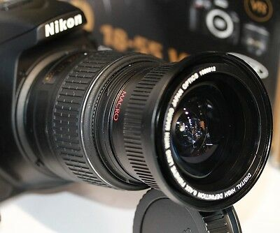 52MM ULTRA Wide Angle Macro Lens for Nikon D3100-D3200-D3300-D5000 NIKON 18-55MM