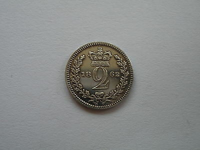 1862 Queen Victoria Maundy Twopence - Uncirculated  - Uk Post Free