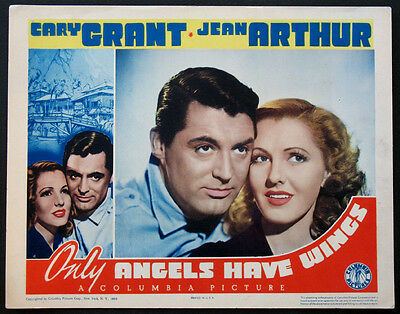 Only Angels Have Wings Cary Grant Jean Arthur Extreme Closeup 1939 Lobby Card