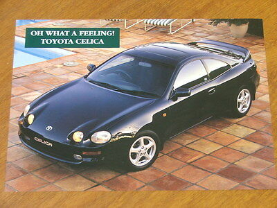 1994 Toyota Celica SX & ZR original double sided Specification sheet
