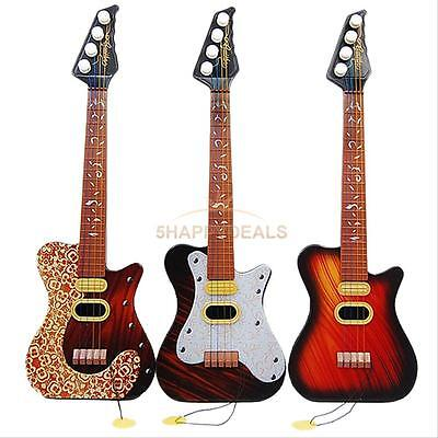 Kid's Baby 4 String Acoustic Guitar Toys Developmental Simulation Music Toy Gift