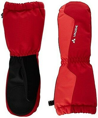 VAUDE, Guanti a manopola Bambino Snow Cup III, Rosso (Indian Red), 6 NUOVO