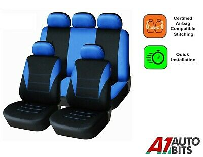 Sporty To Fit Renault Clio Laguna Megane Scenic Car Seat Covers In Blue Black