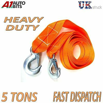 5000kg 5T 3.5M Tow Towing Pull Rope Strap Heavy Duty Road Recovery Car 4x4 +bag