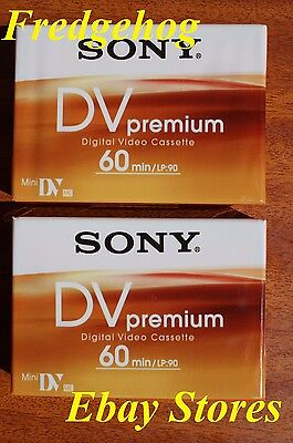 Pack Of 2 Sony Premium Quality Dvm-60 Mini Dv Digital Camcorder Tapes/ Cassettes