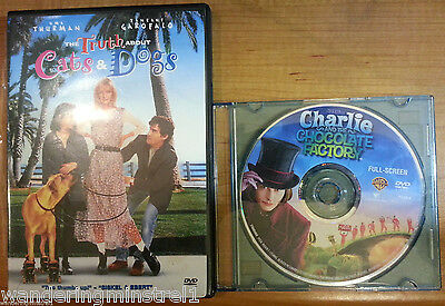 2 DVD's-Charlie and the Chocolate Factory  & The Truth About Cats & Dogs