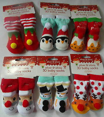 CHRISTMAS - 3D SOCKS For BABY - Size: 0-6 Months