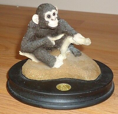 Earth Home CHIMPANZEE Monkey Figurine Endangered Species made in USA