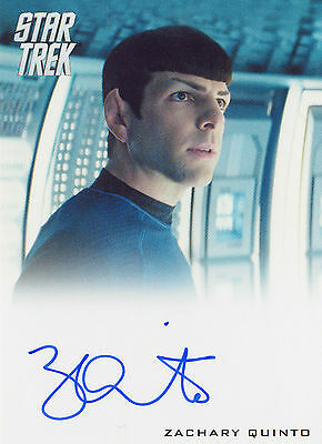 2014 Star Trek Movies Autograph Card Zachary Quinto As Spock