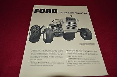 Ford 2110 LCG Low Ground Clearance Tractor Dealer's Brochure LCPA3