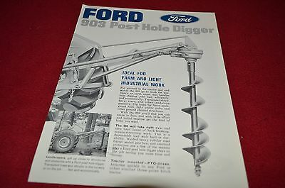 Ford Tractor 903 Post Hole Digger Dealer's Brochure LCPA3
