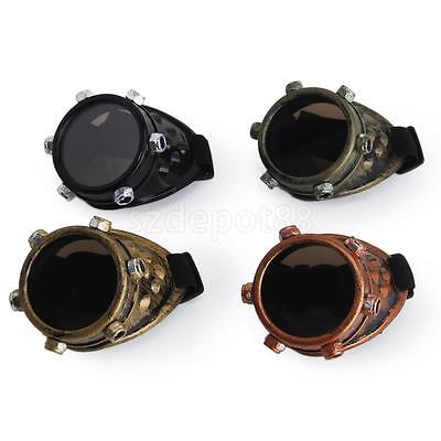 Monocle Cyber Eye Patch Goggles Vintage Victorian Steampunk Goth Antique Cosplay