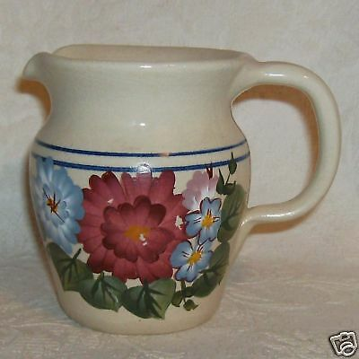 Yesteryears Pottery Texas Small Pitcher Flowers Floral