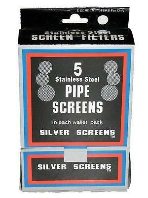 500 Pipe Screens Silver SS Standard Size Retail Store Display 100 Wallet Packs