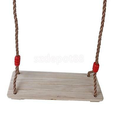 Birch Wooden Tree Beam Swing Seat with Rope Kids Playground Outdoor Play Set