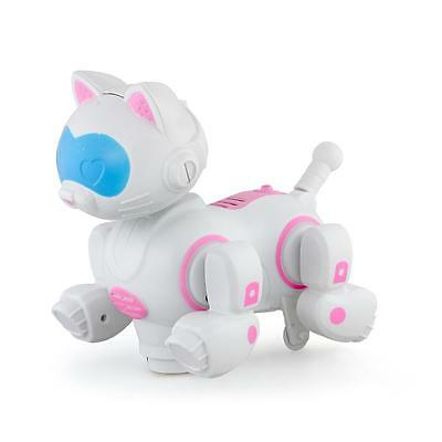 Pink Robotic Electronic Walking Pet Dog Puppy Kids Toy With Music Light