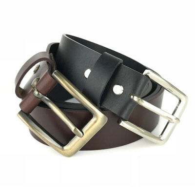 New Quality Genuine Full Grain Leather 39mm Classic Mens Jeans Belt Aussie Selle