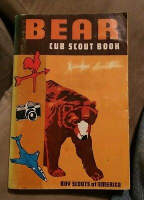 008 Vintage Official Bear Cub Scout Book~Boy Scouts of America~1960's