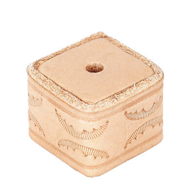 Natural Wooden Color PU Pool Cue Table Snooker Chalk Holder Case Box Storage