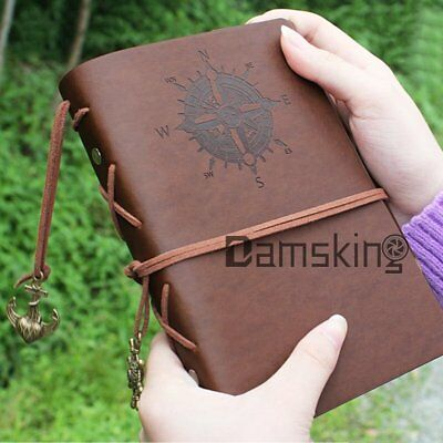 Retro Leather Vintage Classic String Blank Diary Journal Sketchbook Notebook