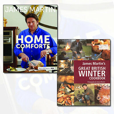 James Martin Collection Home Comforts, Great British Winter Cookbook 2 Books Set