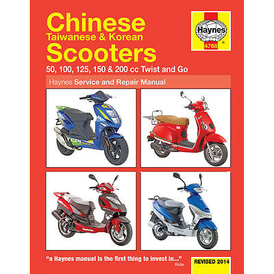 HAYNES MANUAL Chinese Taiwanese Korean 50cc 125cc 150cc Scooters