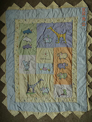 Carters - John Lennon Real Love - Pastel Cotton Quilted Blanket with Animals