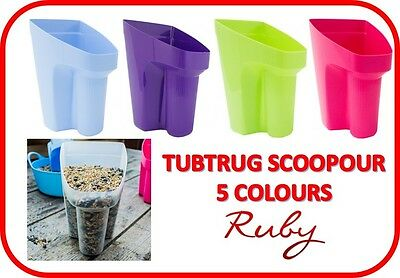 New Faulks Tubtrug Scoopour - 5 Colours - Pet Equine Dog Cat Feed Scoop Scooper